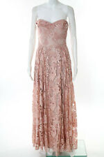 Marchesa Notte Pink Lace Eden Gown Size 0 New $1295 10229530