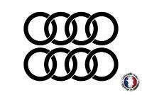 Stickers Autocollants Logo Anneaux Audi bas de caisse decals Ref: audi19