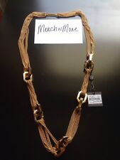 Vince Camuto Modern Links Goldtone Metal Chain Statement Necklace 36""