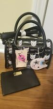 Luv Betsey Johnson LBSYDNEY Kitty Cat Unicorn Clear Crossbody Satchel w/wristlet