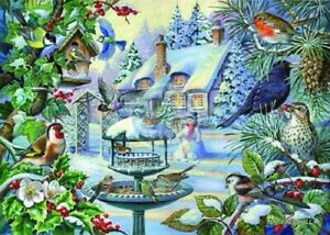 House of Puzzles HOP Winter Birds Big 500 Piece Jigsaw Puzzle New Sealed MC233