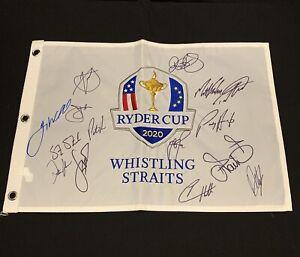 Team USA & Europe Signed 2020 Ryder Cup Flag - 15 Autographs JSA PSA guaranteed