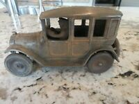 """ARCADE # 2 """"YELLOW CAB"""" CAST IRON TOY AUTOMOBILE WITH DRIVER"""