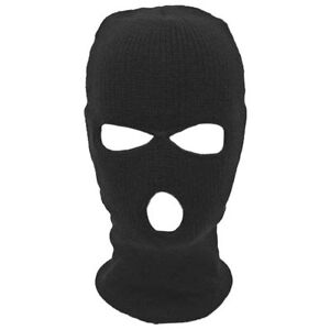 Winter Balaclava 3 Hole Face Mask SAS Style One Size Black Army Military Ski
