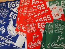 More details for wilts united dairies  32 x vintage eggs paper labels 3 colours - 14cms x 11.5cms