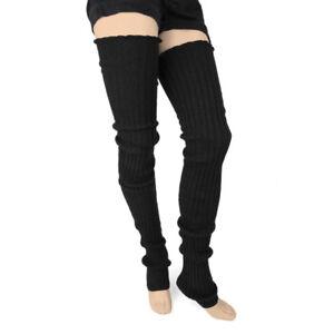 Foot Traffic Super Long Black Cable Heavy Knit Leg Warmers Womens Socks New