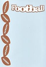 Scrapbooking words and Designs - Football + football border