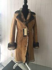 $3995.00 NWT High Quality Light Weight Italian Toscana Shearling Fur Coat SZ M