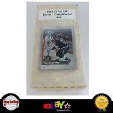 (HCW) 1991-92 Pro Set Series 1 NHL Hockey Complete Set 1-345 - Mint Condition