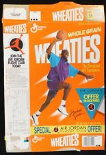 Michael Jordan (Chicago Bulls) Vintage 1990's Wheaties Flat Empty Cereal Box