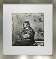 "Edvard MUNCH Lithograph ""Madchen bild"" 1922 Ltd. Edition SIGN + Custom FRAME"