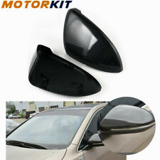 For VW Fits e-Golf Golf Pair Car Rearview Mirror Covers Case ABS Carbon Fiber