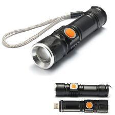 MINI TORCIA USB TASCABILE CON ZOOM LUCE LED CREE XM-L T6 RICARICABILE mshop