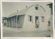 Photo 1949 Pakistan  RAF Mauripur Transit Camp Barracks hut