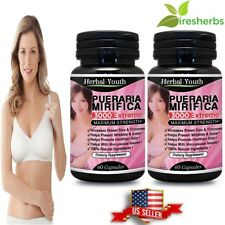 2x PUERARIA MIRIFICA 3000 EXTREME PURE & NATURAL BUST BREAST ENLARGEMENT CAPSULE