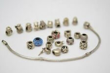 """Authentic Pandora Sterling Silver Bracelet with  Pandora Charms 7.5"""" #3184-13"""