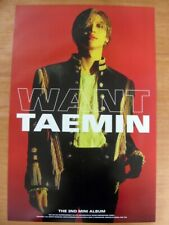 TAEMIN (SHINee) - WANT (Ver. B)  [OFFICIAL] POSTER K-POP *NEW* Want  / More