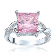 Fashion Women Jewelry Pink Ruby gemstone 925 silver Wedding Ring Size8 k184