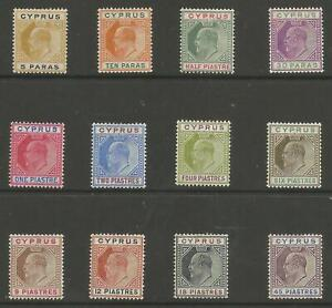 CYPRUS SG60-71 THE 1904-10 EVII SET OF 12 FRESH MOUNTED MINT CAT £350