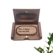 Personalised Laser Engraved Wooden Wood Walnut Maple USB Stick Flash Drive 32GB