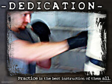 Boxing Training DEDICATION Inspirational Motivational Poster Print