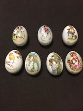 (7) Easter Eggs Royal Bayreuth From Germany - Bone China 1974-1980.