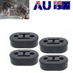 4*Exhaust Mount Repair Hanger Bracket Heavy Duty Rubber Replacement Universal AU