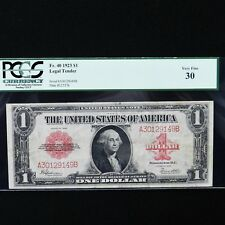 1923  $1 Legal Tender Note, Fr # 40, PCGS 30 Very Fine
