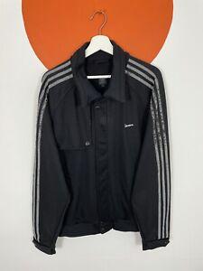 Men's Vintage Adidas Originals Vespa Track Jacket Tracksuit Top Black UK X-Large