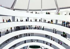 New York Guggenheim People Architecture Pop Art Limited Edition Signed Art Print