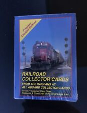 Rare Railroad Train Collector Cards All Aboard Series #1 (46 Cards (1991) (New)