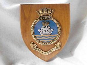 HMS ARK ROYAL ROYAL NAVY RN MESS WARD ROOM CREST SHIELD PLAQUE ~ MOST EXCELLENT