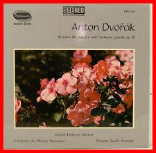 """DVORAK CONCERTO PER PIANOFORTE SOL MINORE RUDOLF FIRKUSNY LASZLO SOMOGYI 12"""" LP"""