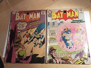 BATMAN #117 And 149 Silver Age DC Comics BATMAN ROBIN Comic Book Lot