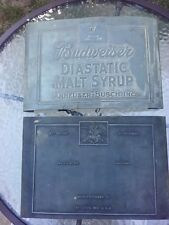 Antique Prohibition Budweiser Diastatic Malt Syrup Printing Plate One Of A Kind