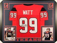 J.J. Watt Signed Texans 35x43 Custom Framed Jersey (JSA) 4× Pro Bowl ( ef8132cb9