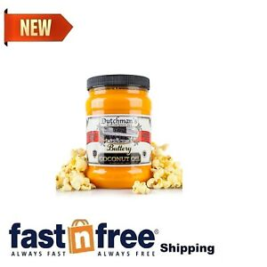 Dutchman's Popcorn Coconut Oil Butter Flavored Oil | 30oz Jar | Vegan