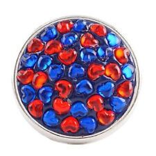 Fits Ginger Snap Ginger SNAPS Red & Blue Hearts Magnolia Vine Jewelry 18mm