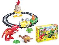 Dinosaur World Building Blocks Kids Train Play Set Learning Activity Brick Toys