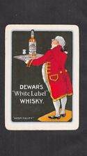 "Single Wide Vintage Playing Card - Advert for Dewar's "" White Label "" Whisky"