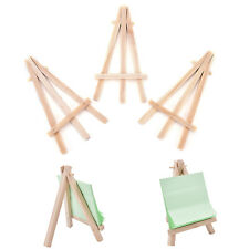 3x Mini Wooden Art Holder Artwork Display Table-Top Easels Drawing Boards HL