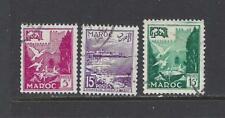 FRENCH MOROCCO - 297-299, 312-316, 318-327- USED - 1954-1955 - SCENES OF MOROCCO