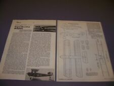 VINTAGE..SOPWITH 5F.1 DOLPHIN..4-VIEWS/CROSS SECTIONS/SPECS...RARE! (99K)