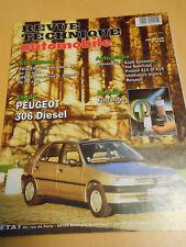 RTA revue technique n° 569 PEUGEOT 306 diesel