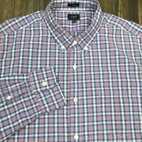 J. Crew Men's Washed Multicolor Slim Fit Shirt Sz XL Plaid Long Sleeve Button Up