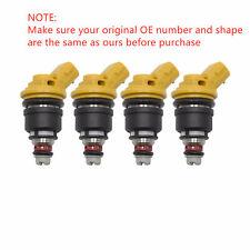 4 Pcs OEM 550cc Yellow Side Feed Injectors For Subaru Sti WRX GC8 16600-AA170