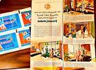 RARE+LOT+Howard+Johnson+1950s+Motor+Lodge+Brochure+%26+Cocoanut+Candy+Bar+Wrappers