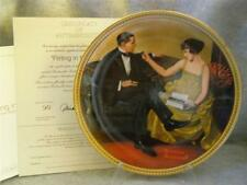 """Knowles /Bradford Exchange / """"Flirting In The Parlor"""" Plate / By Norman Rockwell"""