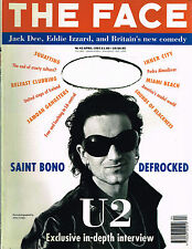 THE FACE April 1992 U2 Bono THE EDGE Jack Dee EDDIE IZZARD Phina Oruche CORBIJN