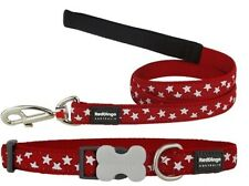 Red Dingo STAR Design Collar / Lead   Dog / Puppy   Sizes XS - LG   FREE P&P
